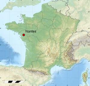 Nantes en France