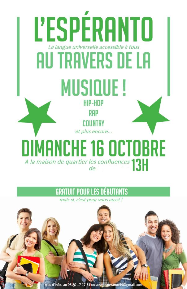 Affiche stage Espéranto 44 octobre 2016